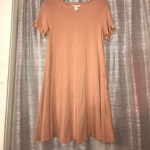 Pink Loose Fitting Dress